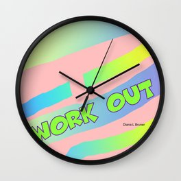WORK OUT EXERCISE Wall Clock