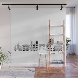 Paris architecture illustration Wall Mural