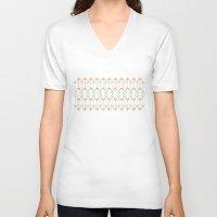 arrow V-neck T-shirts featuring Arrow by Priscila Peress