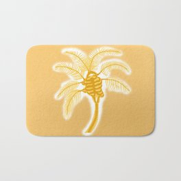 Skeleton Heart Palm Tree Bath Mat