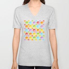Rainbow Polka Dots Unisex V-Neck