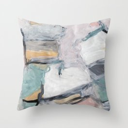 """The """"Oh"""" Abstract Throw Pillow"""