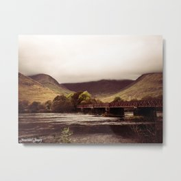 Cloud Crowned Scottish Mountains Metal Print
