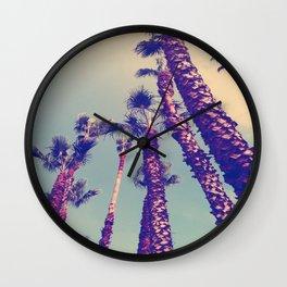 Los Angeles Palm Trees Print Wall Clock