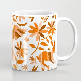 Mexican Otomí Design in Orange Color Coffee Mug