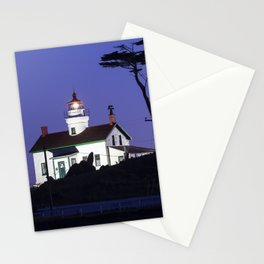 Battery Point Lighthouse after Sunset. Crescent City, California Stationery Cards