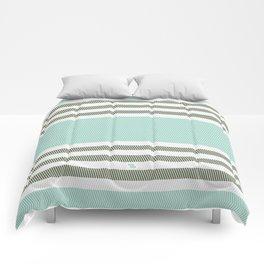 HERRINGBONE STRIPE V - MINT Comforters