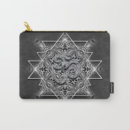 OM Geometry Black White Tribal Carry-All Pouch