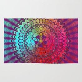 Mandala Flower Wheel Rug