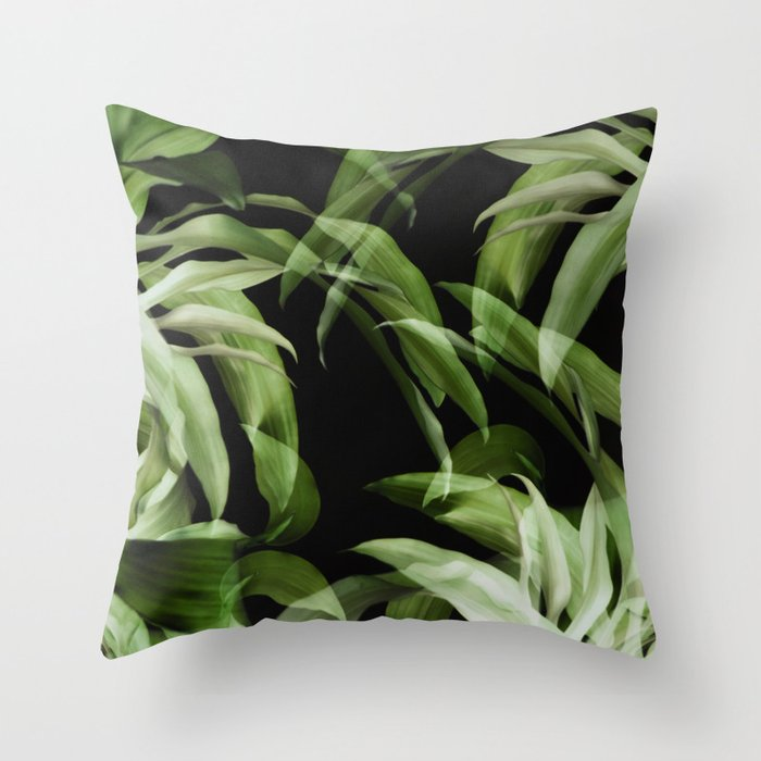 Tropical leaves. Pattern. Throw Pillow
