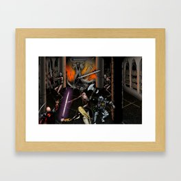 In the Chamber of the Mage-King Framed Art Print
