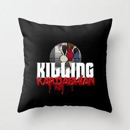 Killing Kardashian Sniper Logo Throw Pillow