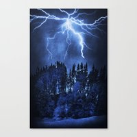 lightning Canvas Prints featuring Lightning by Svetlana Sewell