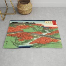 Hiroshige Temple & Mountains Rug