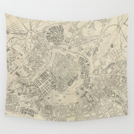 Vintage Map of Vienna Austria (1877) Wall Tapestry