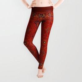 N194 - Red Berber Atlas Oriental Traditional Moroccan Style Leggings