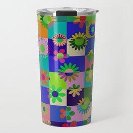 Flowers & Cubes - two Travel Mug