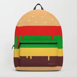 Burger Print Backpack
