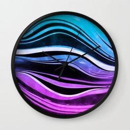 Melting Neons Wall Clock