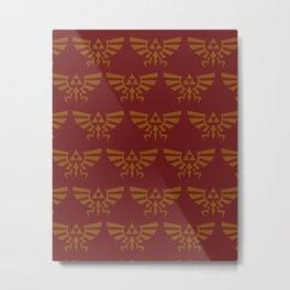 Zelda Pattern Red Metal Print
