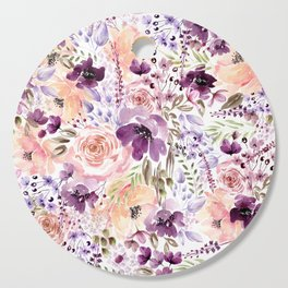 Floral Chaos Cutting Board