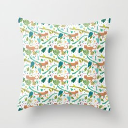 Roar Sweet Tigers in the Jungle Throw Pillow