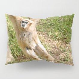 White Handed Gibbon Pillow Sham