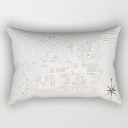 Vintage Map of New Bern NC (1769) Rectangular Pillow