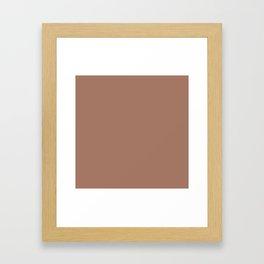 Mocha Mousse Framed Art Print
