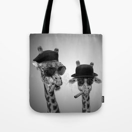 Giraffe gangsters Tote Bag