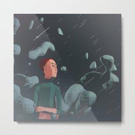Day 0275 /// Heavyschmeavy Rain Metal Print