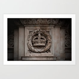 Marble-ous Crown Carved Crown Near Buckingham Palace London England Art Print
