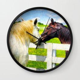Barn Yard Kisses Wall Clock