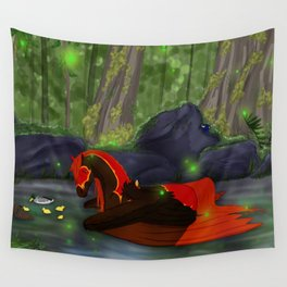 Lonely Starfire Wall Tapestry