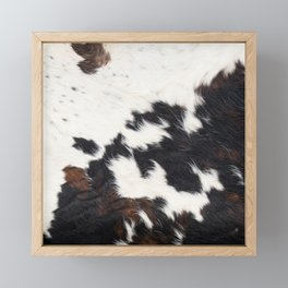 Brown Cowhide Framed Mini Art Print