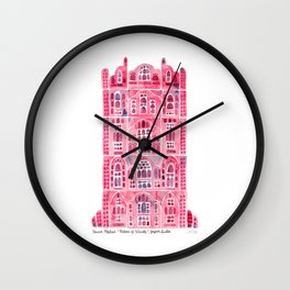 Hawa Mahal – Pink Palace of Jaipur, India Wall Clock