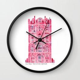 Hawa Mahal – Pink Palace of Jaipur, India Wall Clock