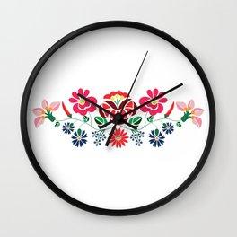 Hungarian floral motifs Wall Clock
