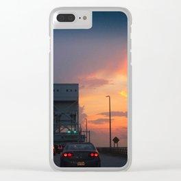 Cape Fear Bridge At Sunset Clear iPhone Case