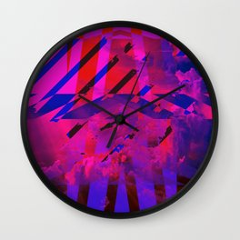 Clouds Mingle with Lines Wall Clock