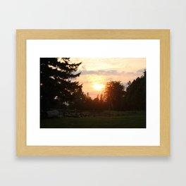 Sunset2 Framed Art Print