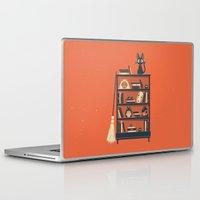 miyazaki Laptop & iPad Skins featuring Ghibli Shelf // Miyazaki by Daniel Mackey