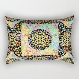 Filigree Floral Patchwork (printed) Rectangular Pillow