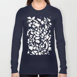 Terrazzo Spot 2 Black Long Sleeve T-shirt
