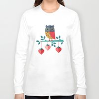 jazzberry Long Sleeve T-shirts featuring OWL ALWAYS LOVE YOU by Daisy Beatrice
