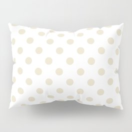 Small Polka Dots - Pearl Brown on White Pillow Sham
