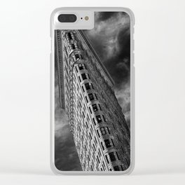 Flat Iron Monochrome Clear iPhone Case