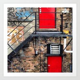 Fire Escape in Chicago Art Print