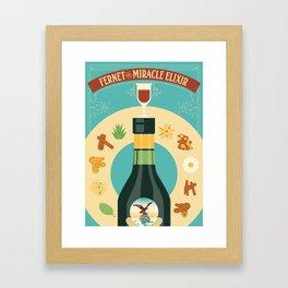 Fernet Branca the Miracle Elixir Framed Art Print