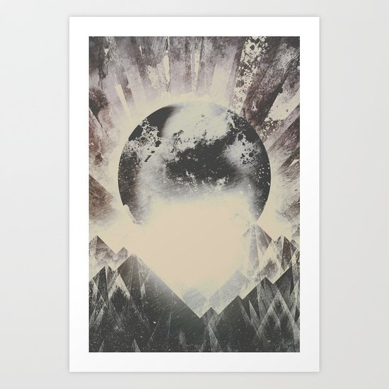 New day new mountains to climb Art Print